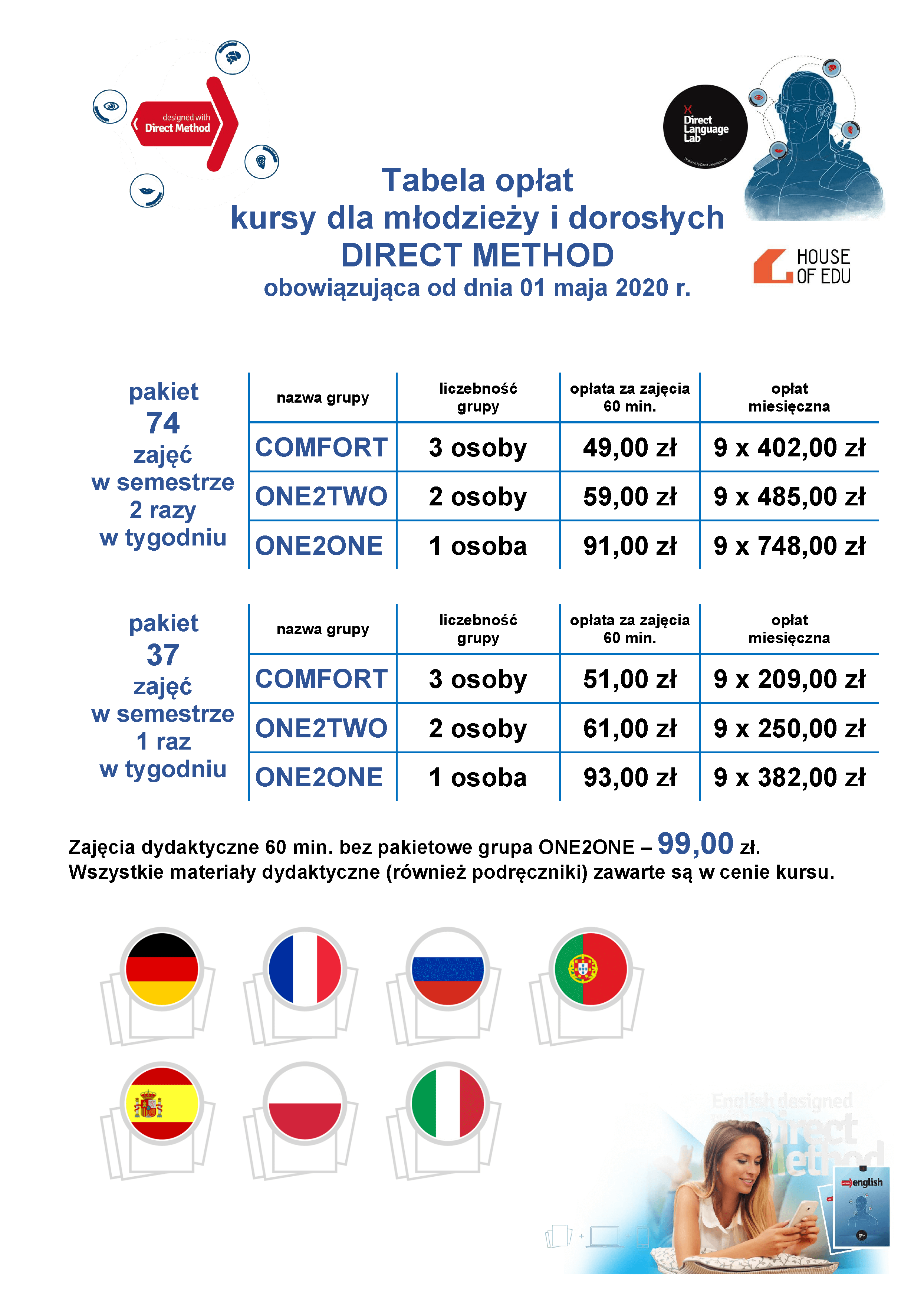 190711 Tabela Opłat Direct Other Languages Adults And Teens Business Strona 2